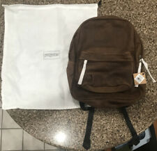 RARE NWT Jansport Superbreak Leather Vintage Brown WITH Jansport Drawstring Bag