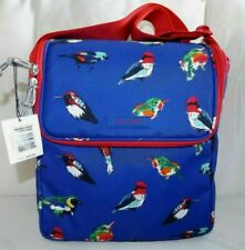 VERA BRADLEY Insulated Stay Cooler Tote bag or Lunch - MINI TODY BIRDS BLUE  NWT