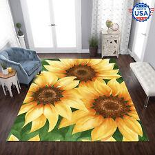 Rug For Living Room - Sunflower Sunshine Area Rug Decor Floor Carpet - Best Gift