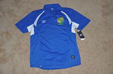 NWT Umbro Brazil Soccer Polo Jersey Shirt Futbol sz. L Brasilia NEW MSRP $36