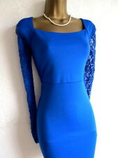 Jane Norman blue lace bodycon dress size 14