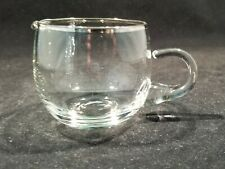 Beautiful vintage SILVER rim Creamer with applied handle