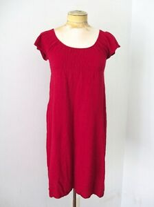 NWT $138 Anthropologie Moth red sweater knit empire dress cotton cashmere XS