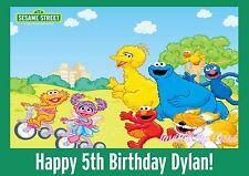 SESAME STREET EDIBLE IMAGE CAKE TOPPER BIRTHDAY PARTY KIDS