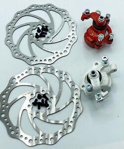 TEKTRO MTB Bike Front and Rear Disc Brake set 160mm Cycling 6 Bolts Bicycle