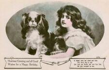 Old Cavalier King Charles Spaniel Dog Postcard Davidson Bros England c1908