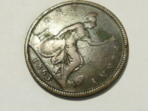 1863 Victoria Penny Collectable Grade Research Variety  #K87