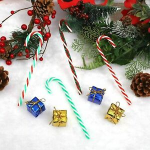 3D 20x Acrylic Candy Cane Adorable Crutches Christmas For Party Decor Realistic