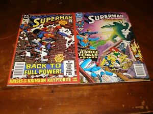 Superman 50,74 1990/92 near mint DC comic lot