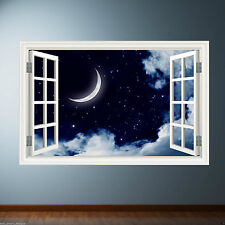 Couleur Ciel Nocturne Lune Rêve Autocollant Décalque Transfert de Mur