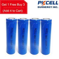 4 x 18650 3.7V Vape Battery Rechargeable Li-ion 2200mAh PKCELL