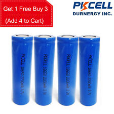 4 x 18650 3.7V Vape Battery Rechargeable Li-ion 2200mAh PKCELL
