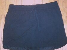 NWT $42 LADIES WOMENS ST. JOHNS'S BAY SWIM BOTTOMS SKORT SHORTS BLACK SIZE 20W