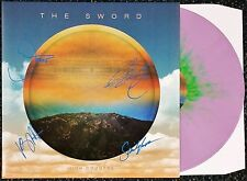 THE SWORD BAND SIGNED HIGH COUNTRY PURPLE GREEN VINYL LP RECORD ALBUM COA
