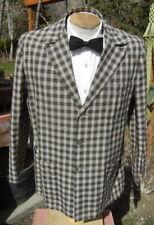 New listing Vtg 1960s Plaid 3 Button Blazer 44 - Light, Washable Summer Jacket by Buck Skein