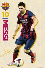 Lionel Messi RETRO ACTION Hot FC Barcelona Poster RARE UK IMPORT