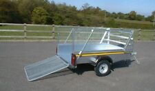 Bateson B64 Unbraked 6x4 Car Trailer with Ramp Tailgate & Mesh Sides - 750kg
