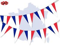 France Full Flag Patriotic Themed Bunting Banner 15 Triangle flags National