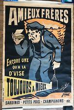 AFFICHE ANCIENNE  1897 JOSSOT  PUBLICITÉ SARDINES AMIEUX FRÈRES