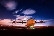 RAF Royal Air Force Hercules Aircraft Brize Norton 47 Sqn 12x8 Inch Photo