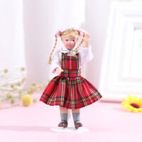 1:12 Puppenhaus Miniatur Porzellan Puppe Modell Little Pretty Girl Doll HomeXUI