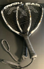 "2-Head Liquidmetal Hurricane Racquetball Racquet 22"" 3 5/8"