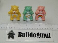 Funshine Cheer & Wish Bear Lot of 3 Care Bears Figures TCFC Pencil Cake Topper