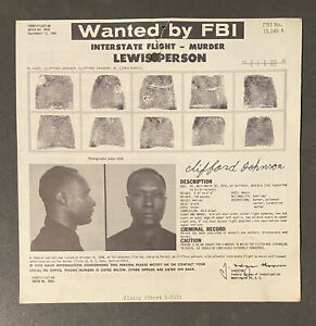 African American FBI Mugshot 1950 Crime Mug Shot Black Americana