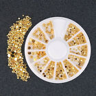 DIY Mixed Gold Color Decals 3D Rhinestone DIY Nail Art Stickers Decor Beauty