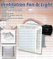 Combo Fan Light Ventilation Bathroom Ceiling Exhaust Bath Nutone LED White Broan