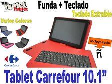 """FUNDA CON TECLADO TABLET CARREFOUR 10.1""""  fundas TECLADO EXTRAIBLE"""