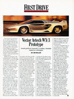 1993 Vector Avtech WX3 Prototype - First Drive - Classic Article A27-B