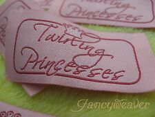 600 Custom Clothing Woven Labels, Damask Quality for Tee,Fashion,Diaper,Belt