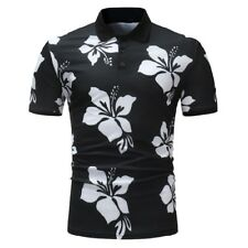 Fashion Single-bested Floral Polo Shirt - White