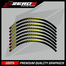 "SUZUKI RM RMZ 125 250 450 MOTOCROSS RIM DECALS GRAPHICS  21"" 19"" BLACK - BLADE"
