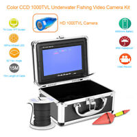 IP68 Under Water Fishing Camera 7In LCD Monitor Video Color Fish Finder 1000TVL