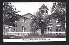 Montezuma Iowa Ia c1907 Old Brick Montezuma High School Buildings