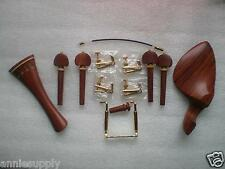 1 Set Best Quality Rose Wood Violin parts 4/4 & Fine tuner tail gut metal clamp