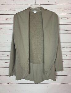 Standard James Perse Women's Size 3 Gray Beige 100% Cotton Knit Blazer Jacket