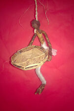 Handmade Fairtrade African Women with Large Basket Christmas Tree Decoration