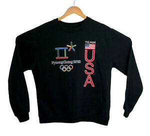 Team USA 2018 Olympics PyeongChang Apparel Adult Size Large L Sweatshirt Black