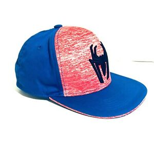 THE AMAZING SPIDER-MAN YOUTH BLUE & RED SNAP BACK HAT VERY LIGHTLY USED MARVEL