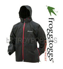 1-TTE6038-01 FROGG TOGGS RAIN GEAR-BLACK/RED TEKK TOAD-II JACKET WET GOLF WALK