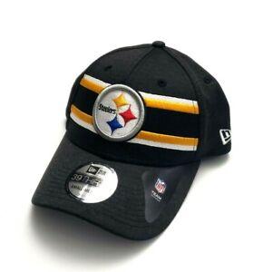 New Era Pittsburgh Steelers NFL 3930 OF 2018 SBLIII Flex Fitted Hat Black S/M