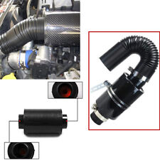 "Universal 3"" Filter Box Carbon Fiber Car Induction Cold Air Intake System Hose"