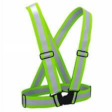 Safe Cycling Running Neon Reflective Vest Darkness Reflector Night Protection