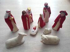 Crèche rouge complète santons Smiglio