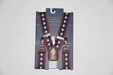 New Club Room Men's One Size Navy Stars & Stripes Suspenders