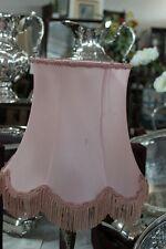 PARALUME VINTAGE  IN STOFFA COLORE ROSA H cm 24 per LUME o LAMPADA