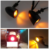 2 X Universal 12V Amber Motorcycle Motos Accessories Turn Signal Light Indicator